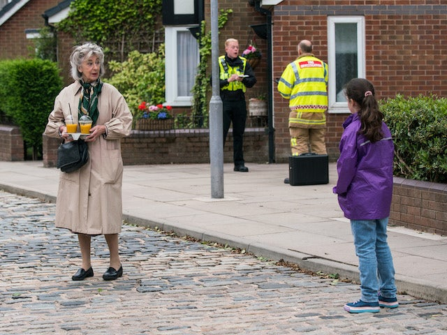 Evelyn on the second episode of Coronation Street on August 4, 2021