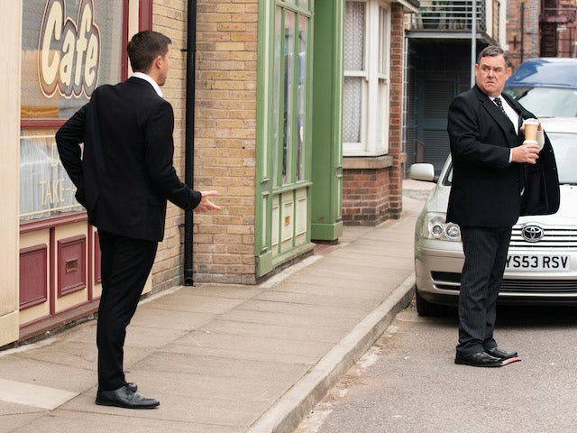 Todd and George on the second episode of Coronation Street on August 2, 2021