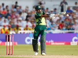 Babar Azam in action against England on July 16, 2021
