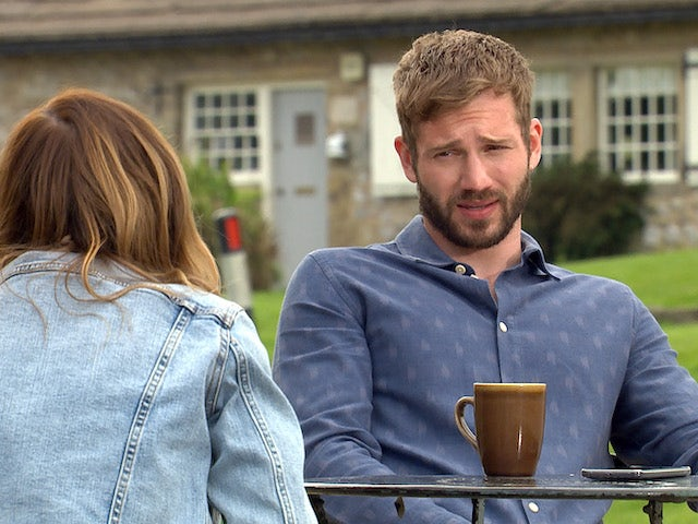 Jamie on the first episode of Emmerdale on July 29, 2021