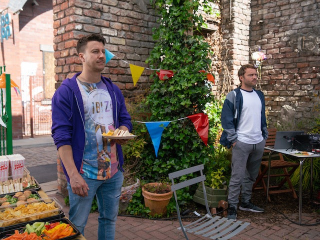 Ryan and Paul on the first episode of Coronation Street on July 28, 2021