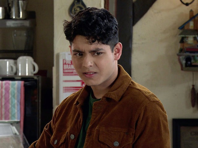 Aadi on the first episode of Coronation Street on July 26, 2021