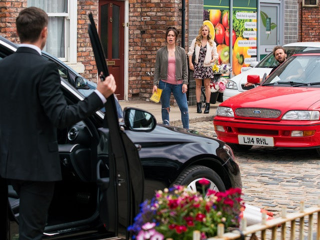 Todd and Shona on the first episode of Coronation Street on August 6, 2021
