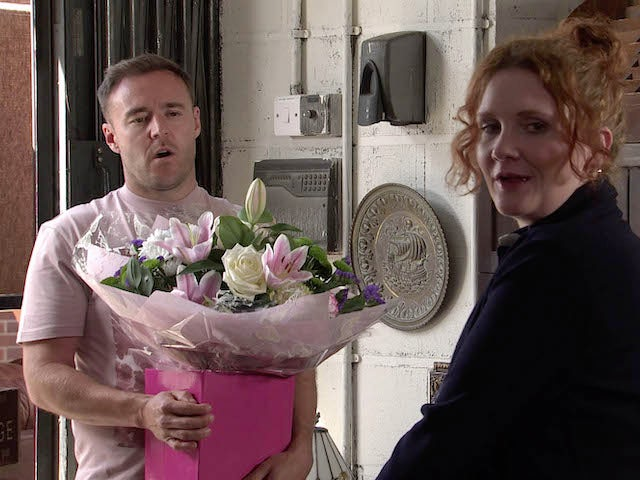 Tyrone and Fiz on the first episode of Coronation Street on July 26, 2021