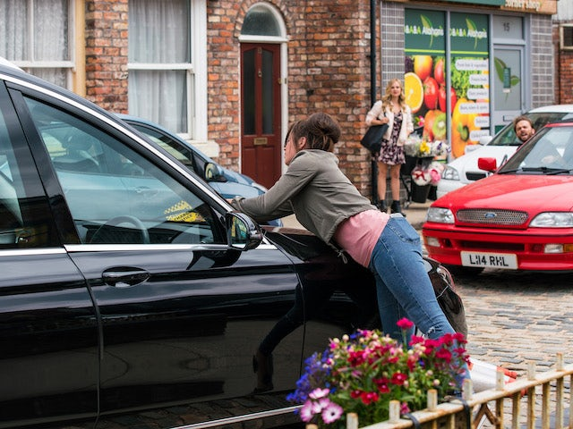 Shona on the first episode of Coronation Street on August 6, 2021