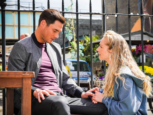 Zack and Nancy on EastEnders on July 26, 2021