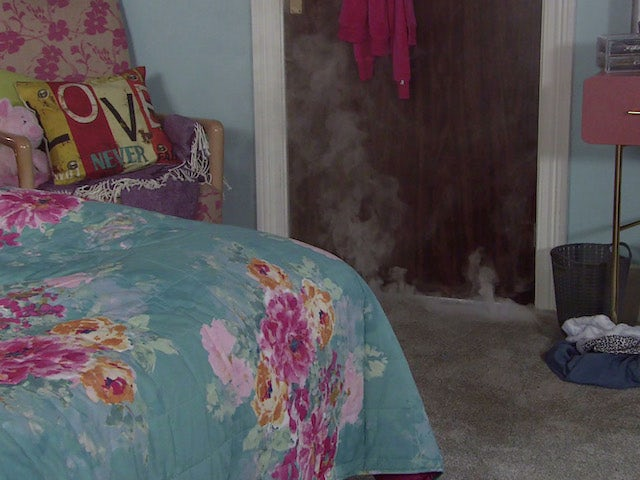 Smoke on the second episode of Coronation Street on August 2, 2021