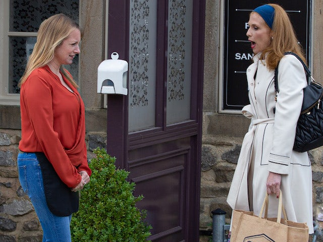 Nicola and Bernice on Emmerdale on August 4, 2021