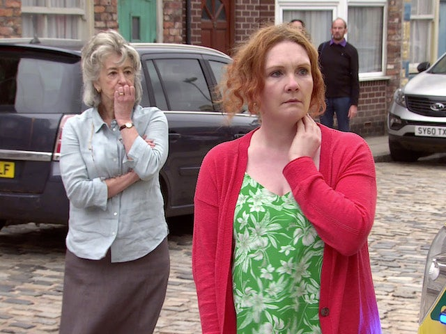 Evelyn and Fiz on the second episode of Coronation Street on August 2, 2021
