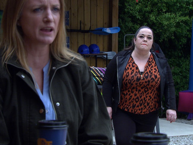 Mandy and Nicola on Emmerdale on August 6, 2021