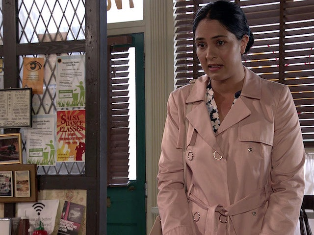 Lauren on the first episode of Coronation Street on August 6, 2021