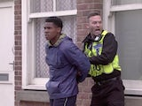 James and PC Brody on the first episode of Coronation Street on July 26, 2021