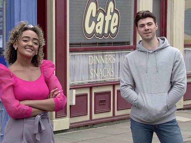Emma and Curtis on the second episode of Coronation Street on July 28, 2021