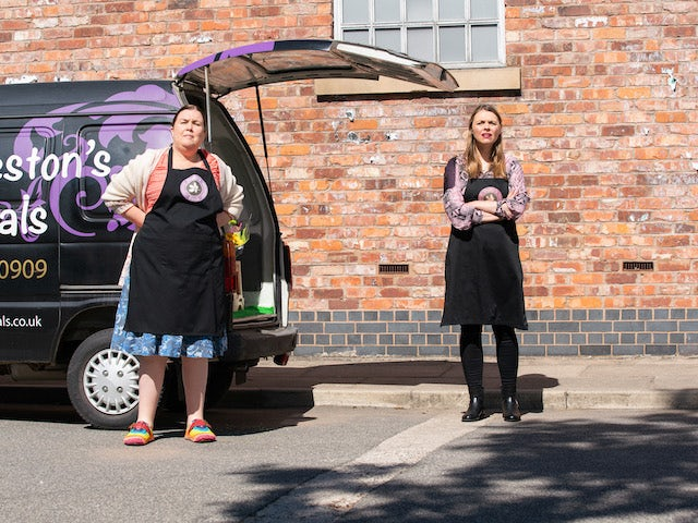 Mary and Tracy on the first episode of Coronation Street on August 6, 2021