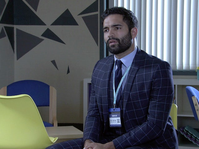 Imran on the first episode of Coronation Street on July 28, 2021