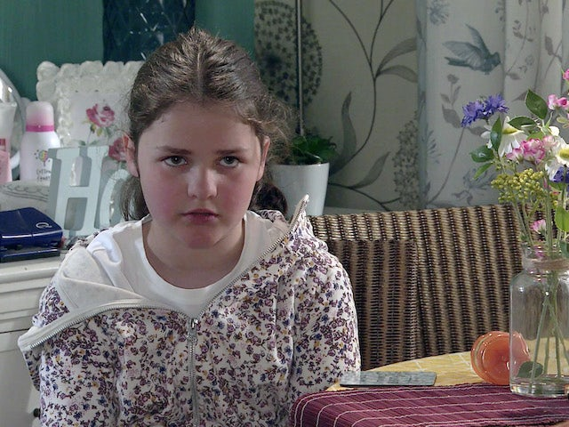 Hope on the first episode of Coronation Street on August 2, 2021