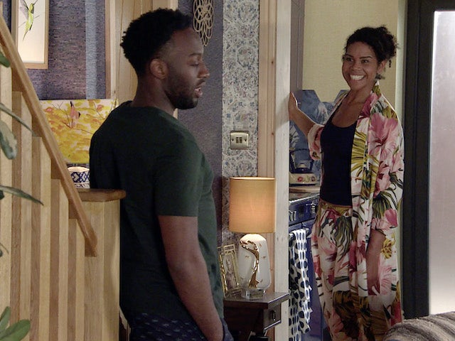 Michael and Grace on Coronation Street on July 30, 2021