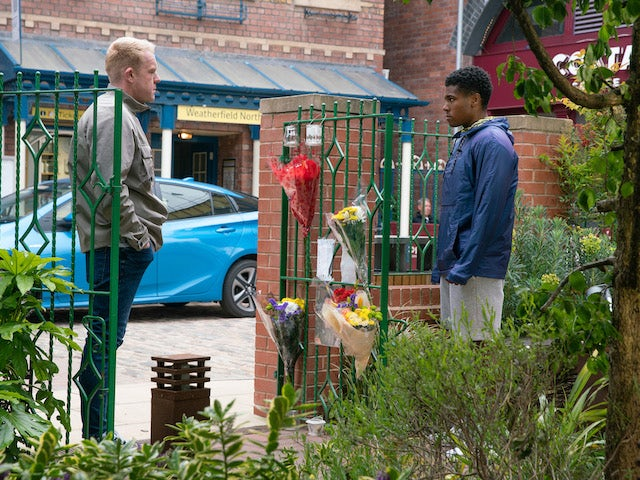 Craig and James on the first episode of Coronation Street on August 2, 2021