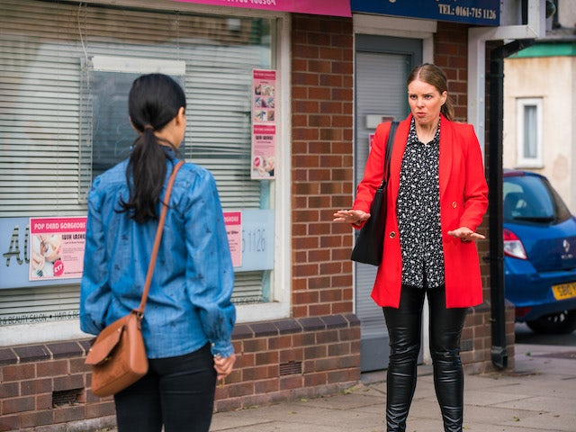 Rachel on the second episode of Coronation Street on August 11, 2021