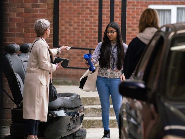 Debbie and Asha on the first episode of Coronation Street on August 9, 2021