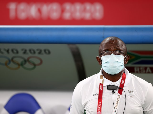 South Africa coach David Notoane before the match on July 22, 2021