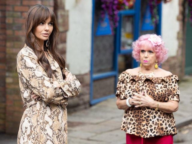 Mercedes and Nana on Hollyoaks on July 27, 2021