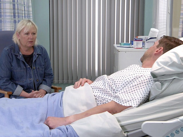Eileen and Todd on the second episode of Coronation Street on August 9, 2021