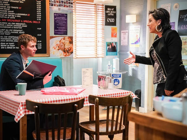 Jay and Kat on EastEnders on August 2, 2021