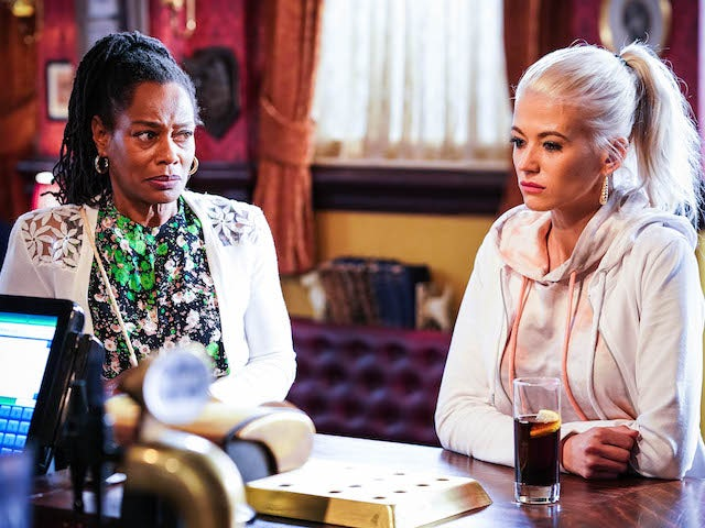 Sheree and Lola on EastEnders on August 6, 2021