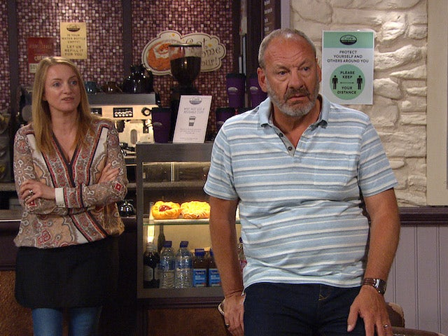 Jimmy and Nicola on Emmerdale on August 9, 2021