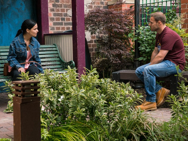 Alina and Tyrone on the second episode of Coronation Street on August 13, 2021