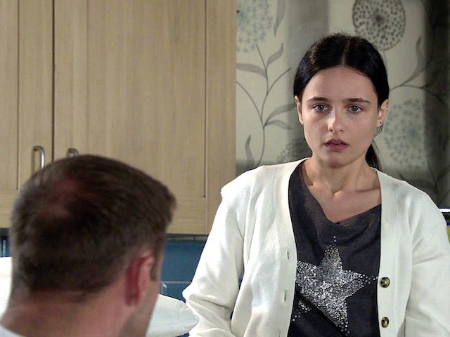 Alina on the first episode of Coronation Street on August 9, 2021