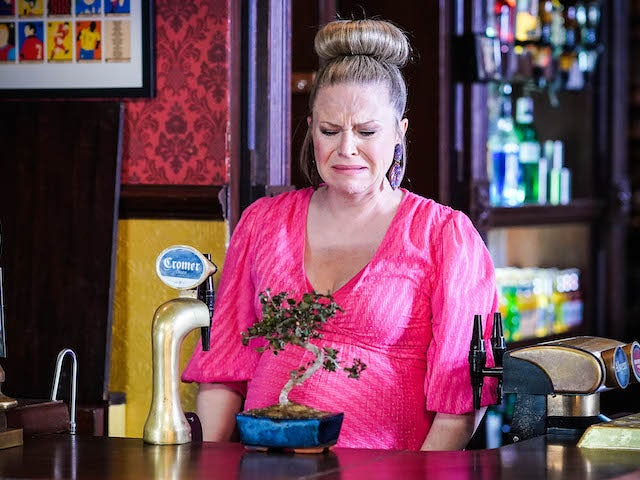 Linda and her dead bonsai on EastEnders on August 5, 2021