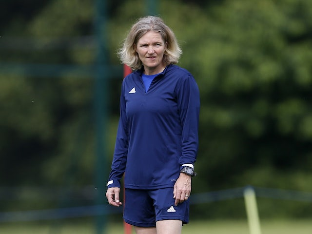 Team GB coach Hege Riise during training on July 3, 2021
