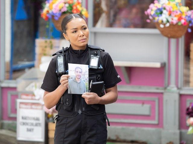 PC Franks on Hollyoaks on July 29, 2021