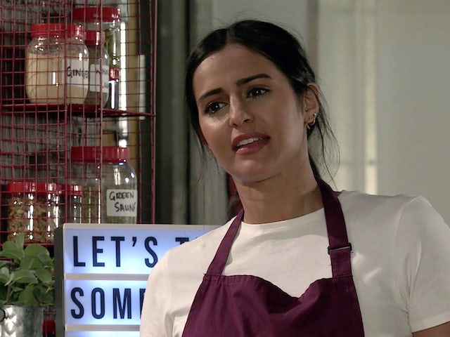 Alya on the second episode of Coronation Street on August 9, 2021