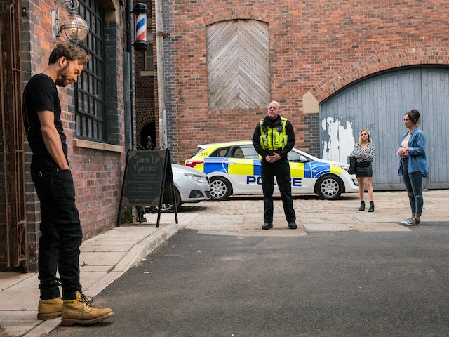 David and Craig on the first episode of Coronation Street on August 11, 2021