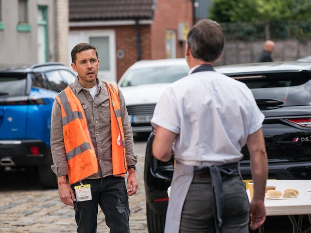 Todd on the second episode of Coronation Street on August 13, 2021