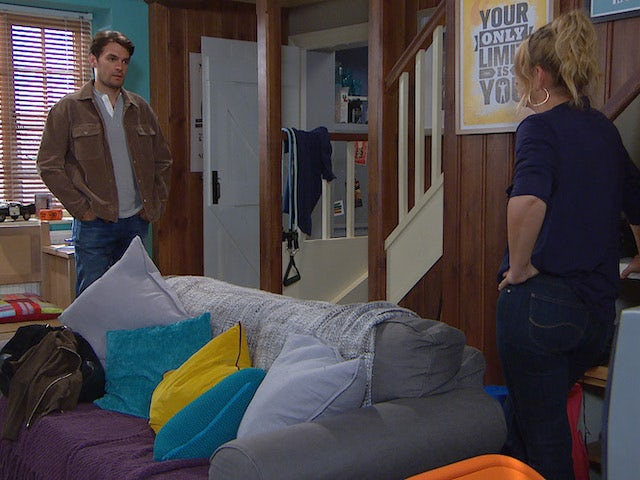 Mack and Charity on Emmerdale on August 11, 2021