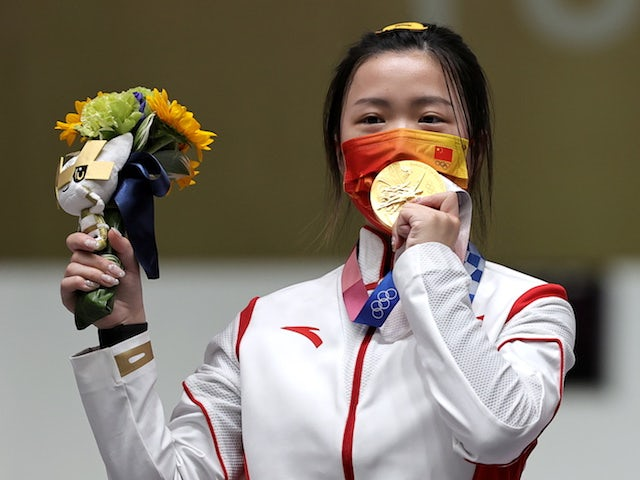 China claim first gold medal at Tokyo 2020