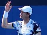 Andy Murray in action at the Tokyo Olympics on July 28, 2021