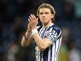 Chelsea midfielder Conor Gallagher pictured on loan at West Bromwich Albion on May 19, 2021