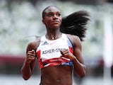 Dina Asher-Smith pictured at the Tokyo 2020 Olympics on July 30, 2021