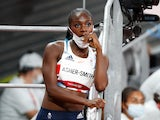 Dina Asher-Smith pictured at the Tokyo 2020 Olympics on July 31, 2021