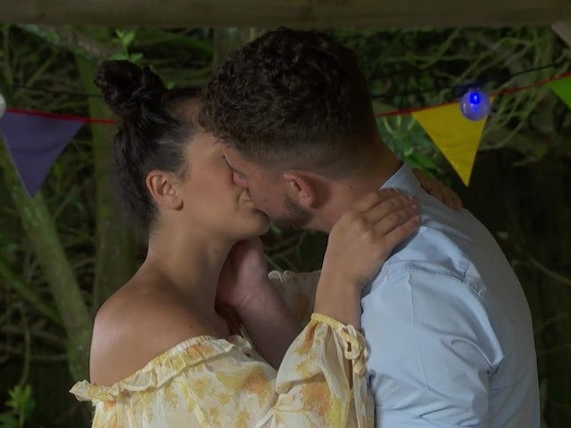 Cleo and Joel on Hollyoaks on August 3, 2021