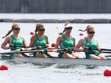 Ireland's women's four in action on July 28, 2021