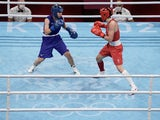 Sena Irie and Karriss Artingstall in the women's feather (54-57kg) semifinal during the Tokyo 2020 Olympics on July 31, 2021