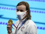 Katie Ledecky pictured at the Tokyo Olympics on July 28, 2021