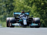 Lewis Hamilton pictured during practice for the Hungarian Grand Prix on July 31, 2021