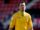 Marcus Bettinelli in action for Middlesbrough in April 2021